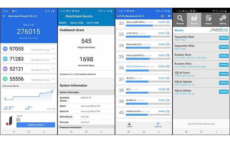 Тесты Samsung Galaxy A71