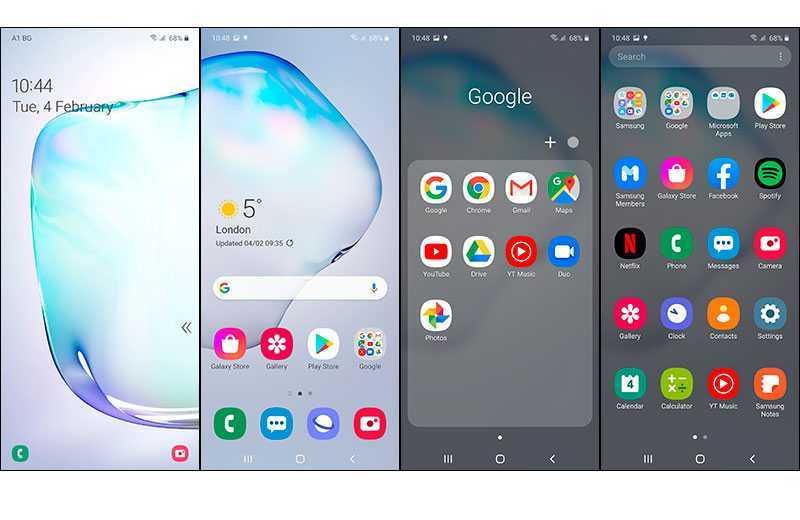 Samsung Galaxy Note 10 Lite ПО