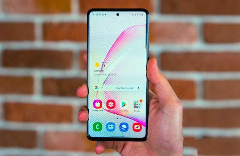 Samsung Galaxy Note 10 Lite дисплей