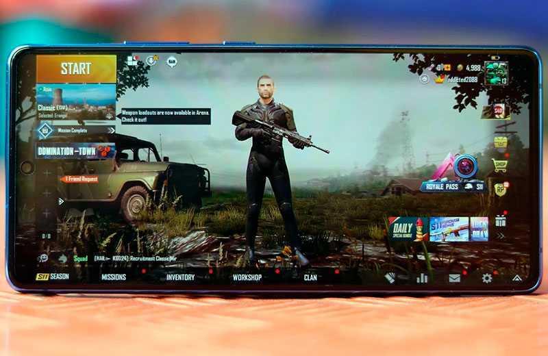 Samsung Galaxy S10 Lite в играх