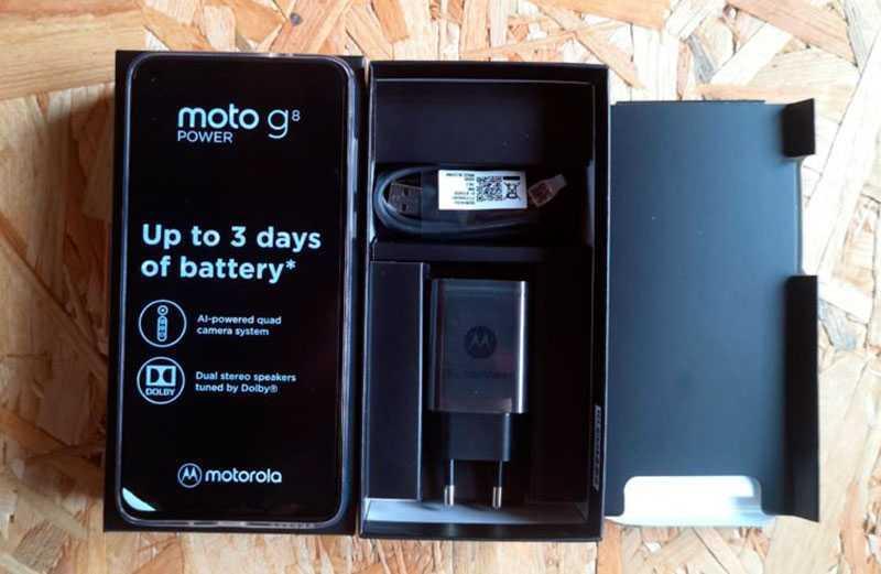 Motorola G8 Power из коробки