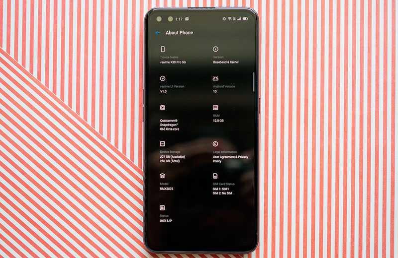 Связь в Realme X50 Pro