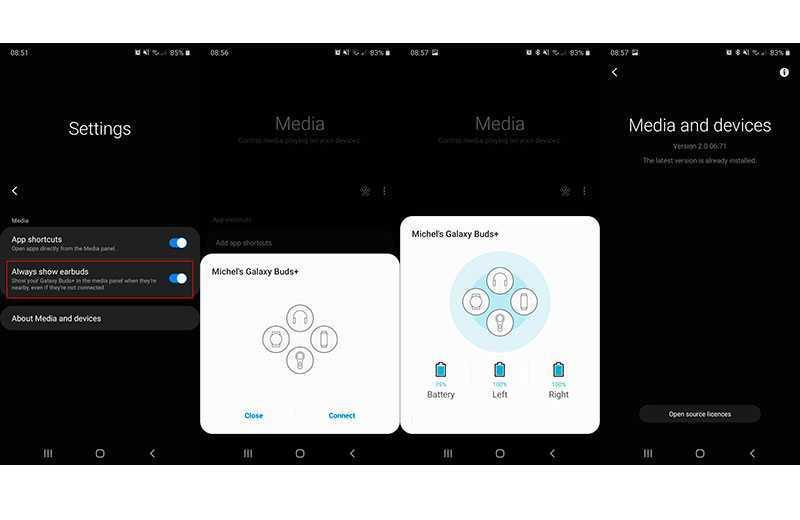 Samsung Galaxy Buds Plus поддержка нескольких источников