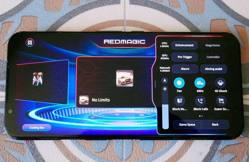 Nubia Red Magic 5G игровой режим