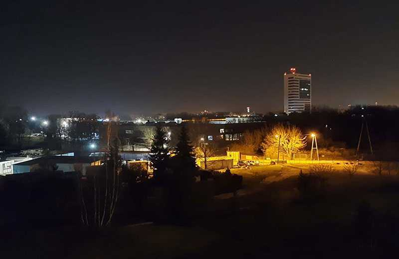 Samsung Galaxy Xcover Pro ночная съёмка