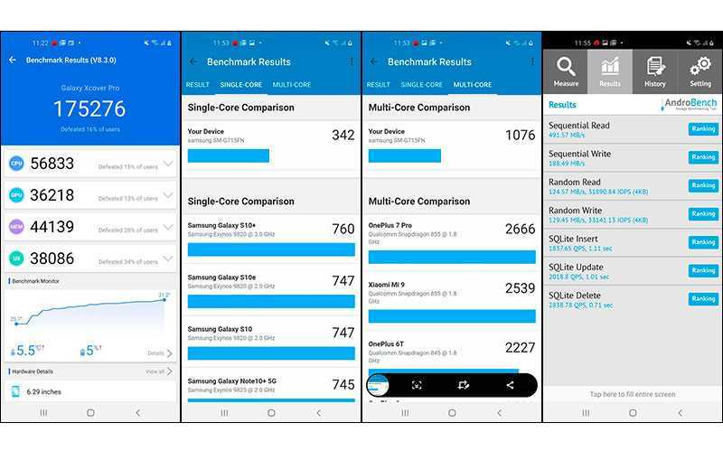 Тест Samsung Galaxy Xcover Pro
