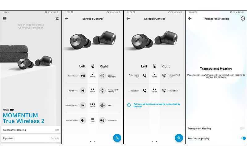 Приложение Sennheiser Momentum True Wireless 2