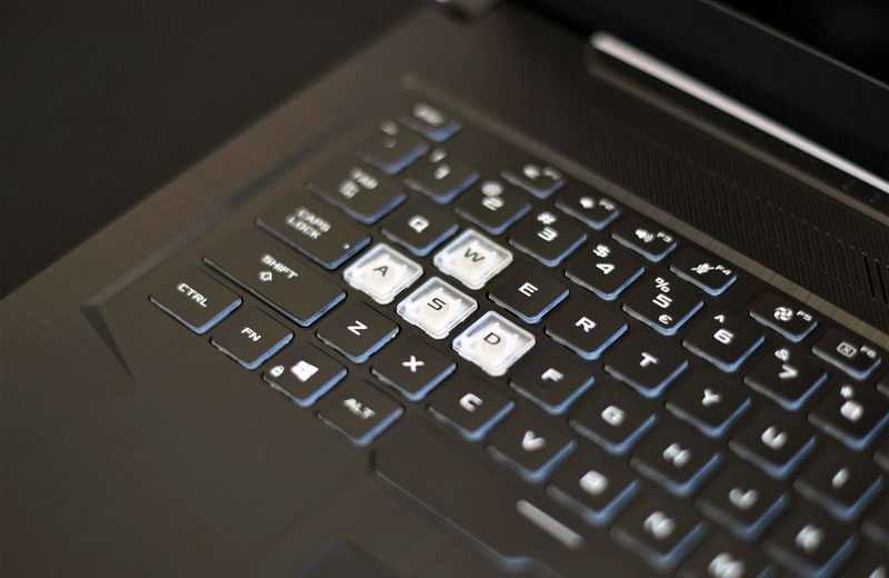 ASUS TUF Gaming A17 выделенные клавиши