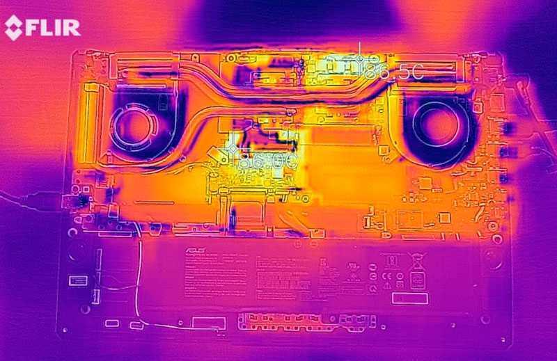 ASUS TUF Gaming A17 охлаждение