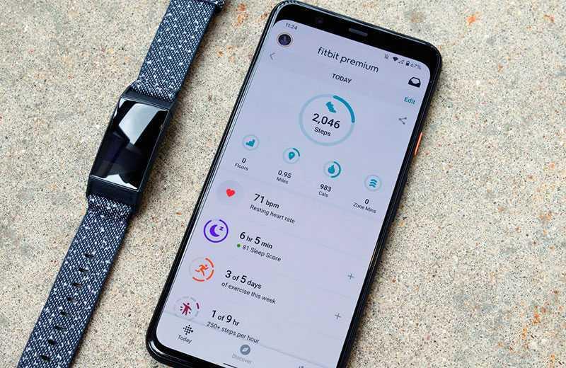 Тренировки с Fitbit Charge 4