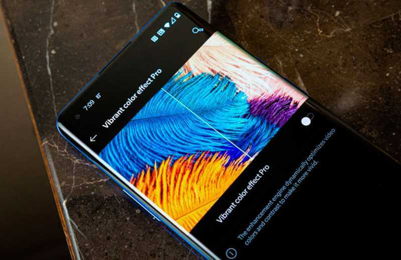 OnePlus 8 Pro настройки отображения