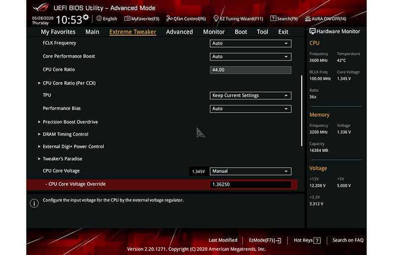 Разгон процессора AMD Ryzen с материнской платы