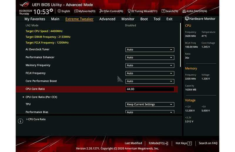 Как разгонять процессоры AMD Ryzen с материнской платы UEFI