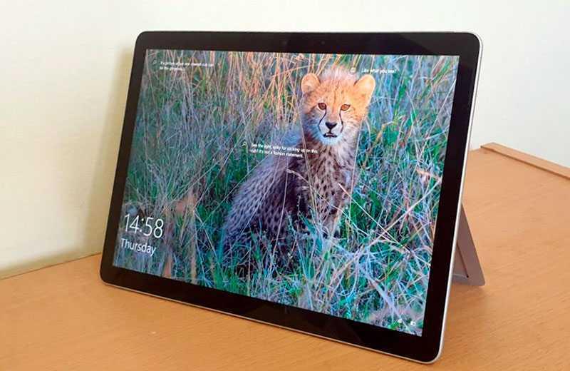 Конструкция Microsoft Surface Go 2