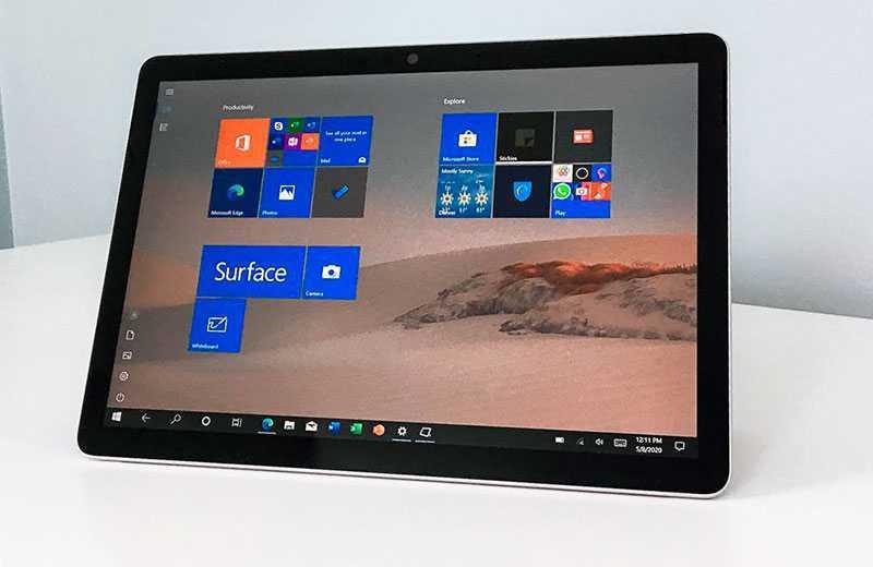 Microsoft Surface Go 2 дисплей