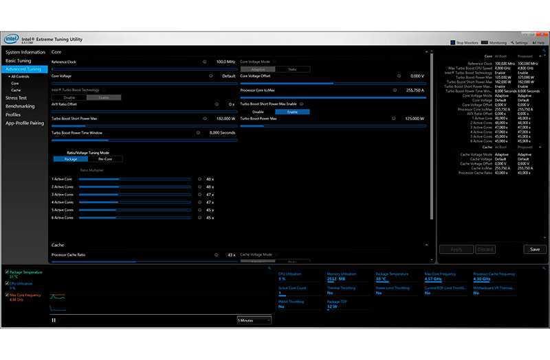 Как увеличить время процессора Intel с системного уровня (Intel XTU)