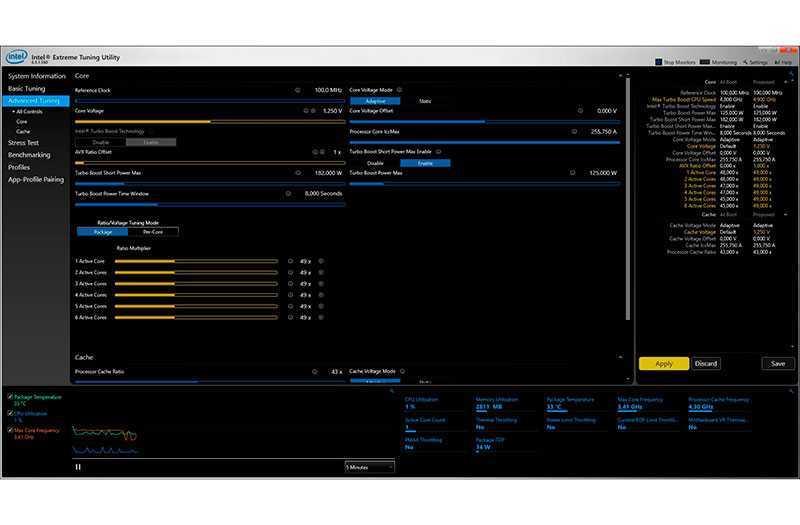 Приложение для разгона процессора intel