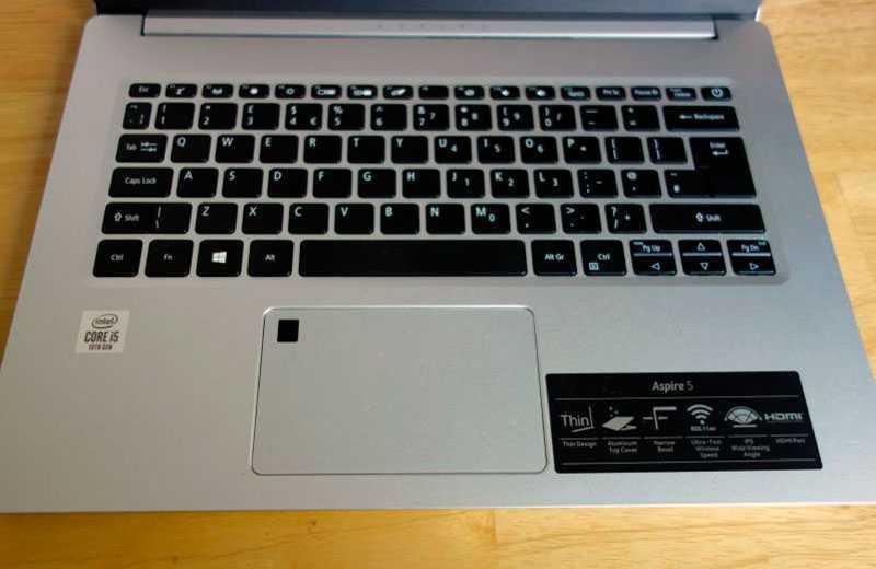 Acer Aspire 5 клавиатура
