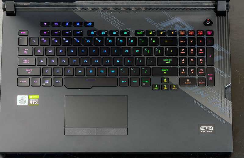 Asus ROG Strix Scar 17 (G732) клавиатура