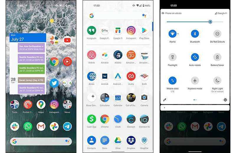 Google Pixel 4a ПО