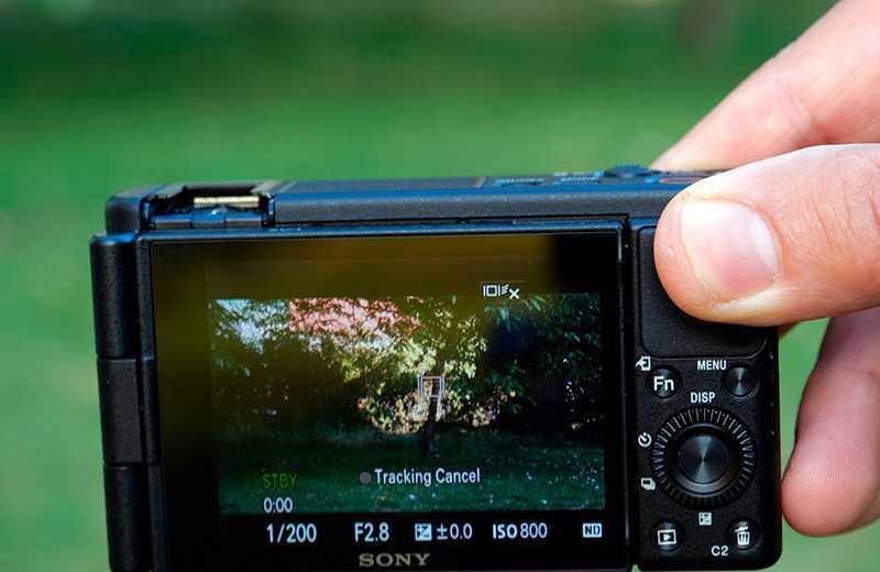 Sony ZV-1 дисплей