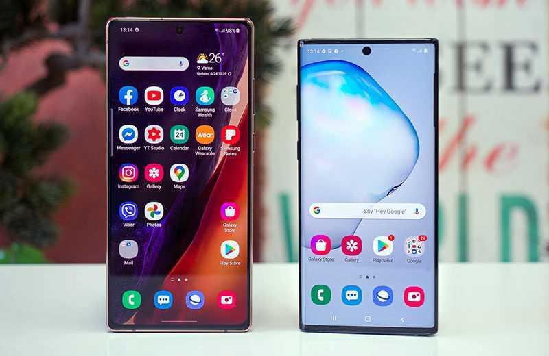 Samsung Galaxy Note 10 vs Samsung Galaxy Note 20