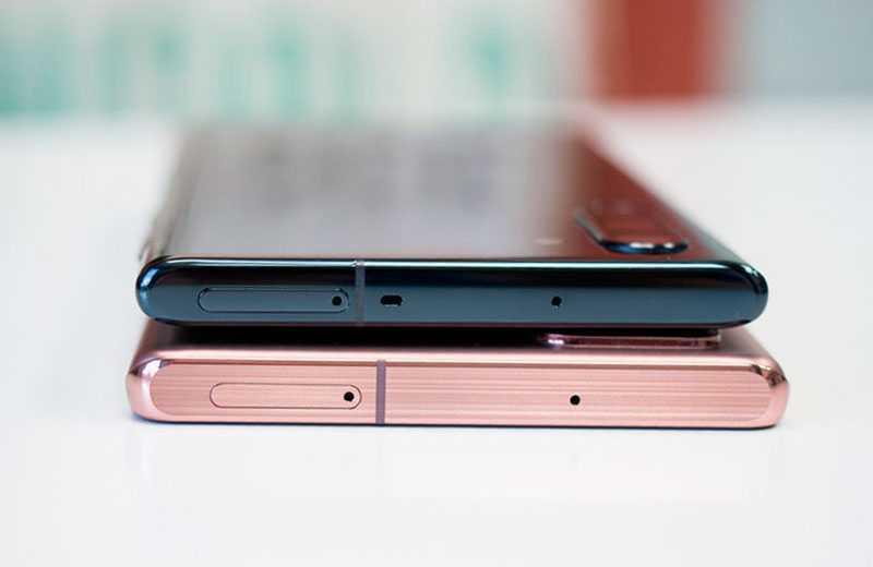 Сравнение Samsung Galaxy Note 10 и Samsung Galaxy Note 20