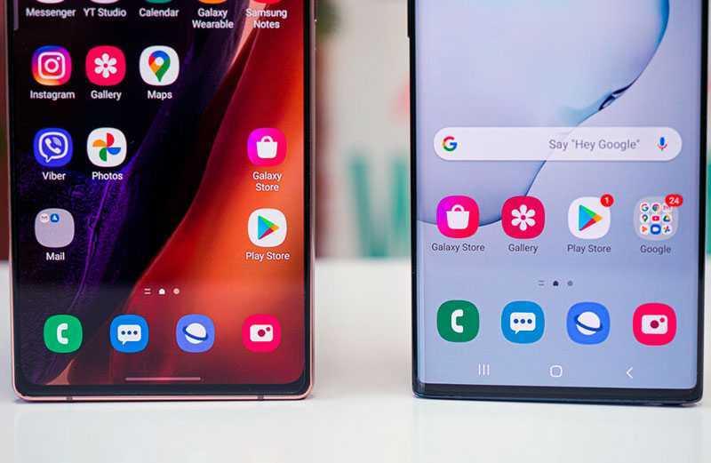 Samsung Galaxy Note 10 vs Samsung Galaxy Note 20 дисплеи