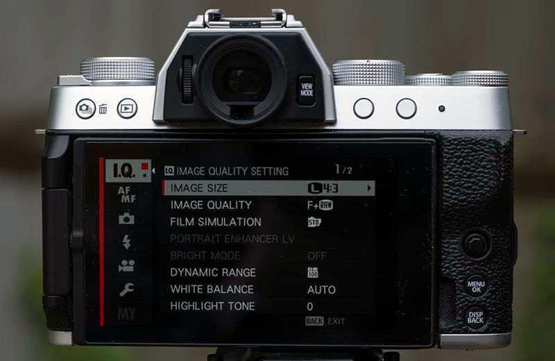 Fujifilm X-T200 интерфейс
