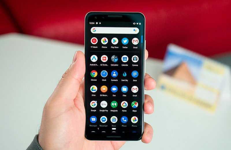 Android 10 тёмный режим