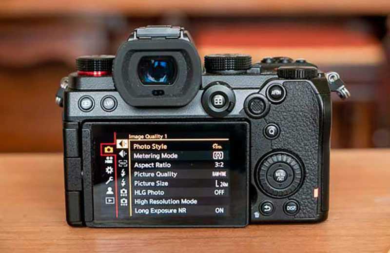 Меню Panasonic Lumix S5