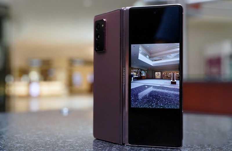 Samsung Galaxy Z Fold 2 съёмки