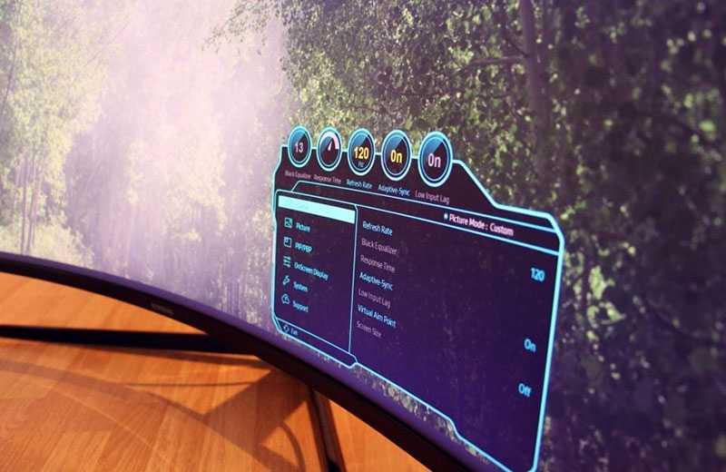 Samsung Odyssey G9 меню и управление
