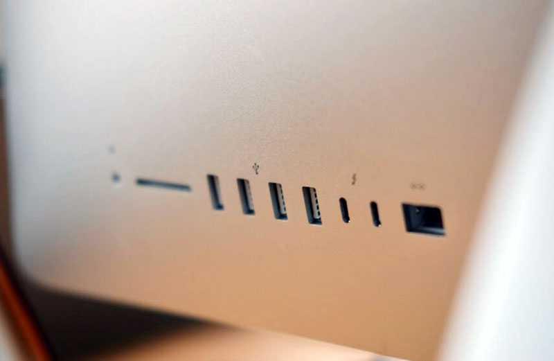 Apple iMac 27 5K (2020) разъёмы
