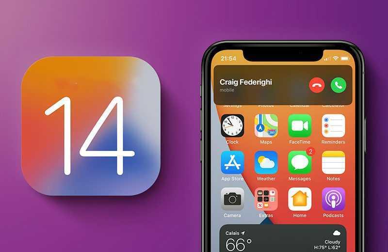 iOS 14 звонки