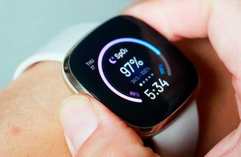 Fitbit Sense уровень кислорода крови