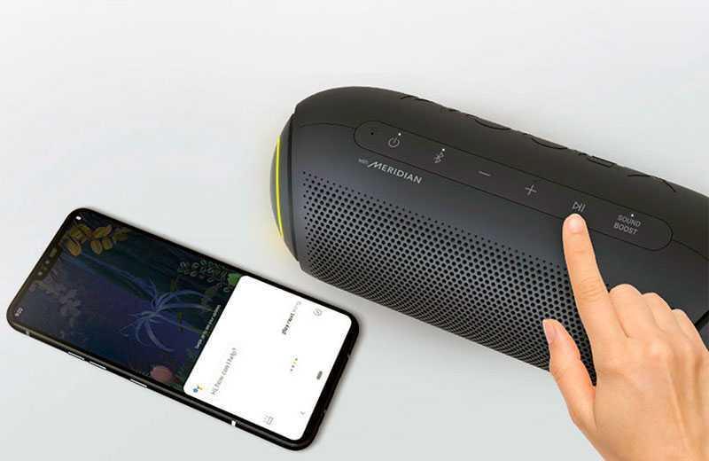 LG XBOOM Go PL7 голосовое управление