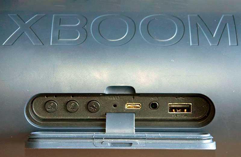 LG XBOOM Go PL7 разъёмы