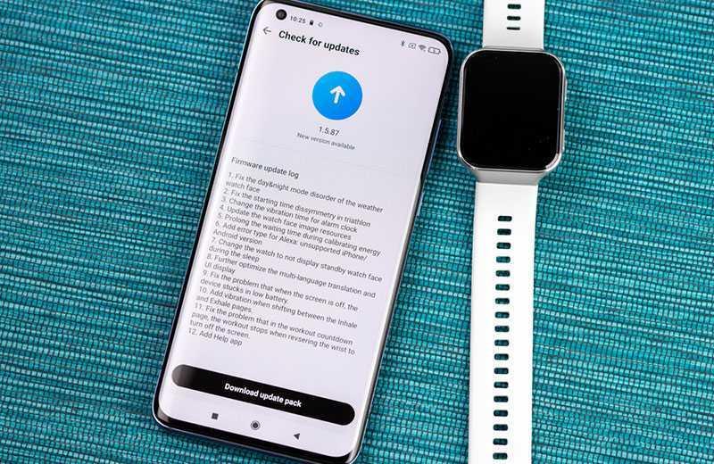 Xiaomi 70mai Saphir Watch обновление
