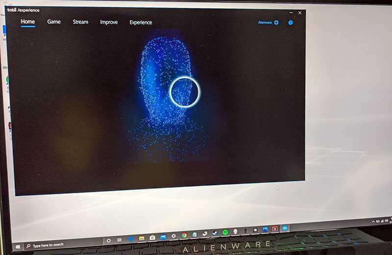 Alienware m17 R3 система отслеживания взгляда
