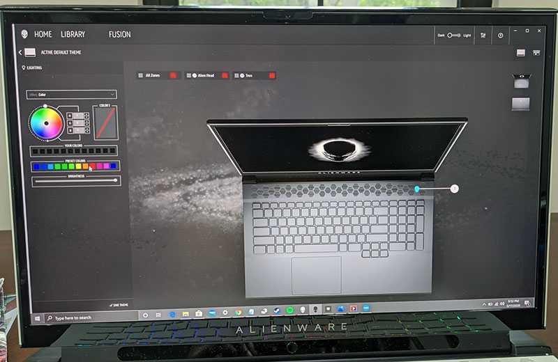 Alienware m17 R3 настройка