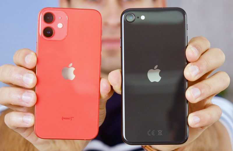Сравнение Apple iPhone 12 mini vs iPhone SE (2020)