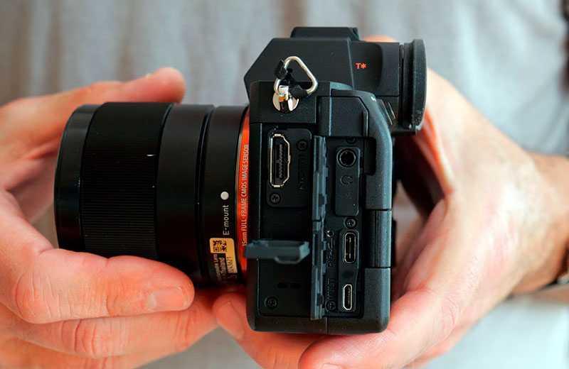Sony A7S III разъёмы