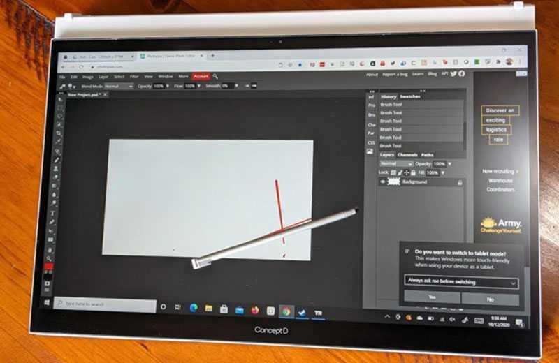Acer ConceptD 3 Ezel стилус