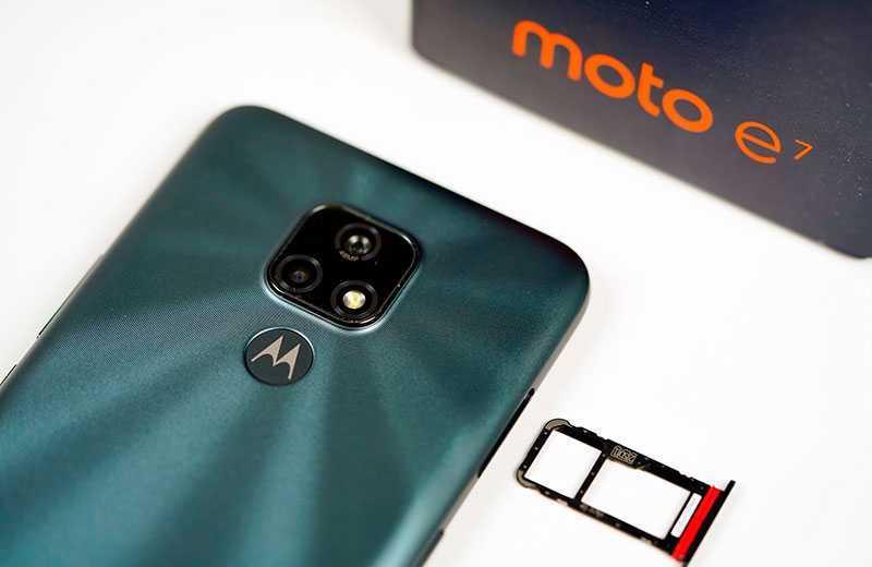 Motorola Moto E7 связь