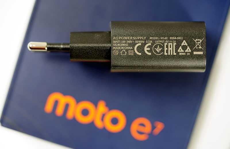 Motorola Moto E7 зарядка