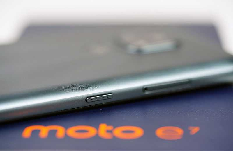 Motorola Moto E7 кнопки управления