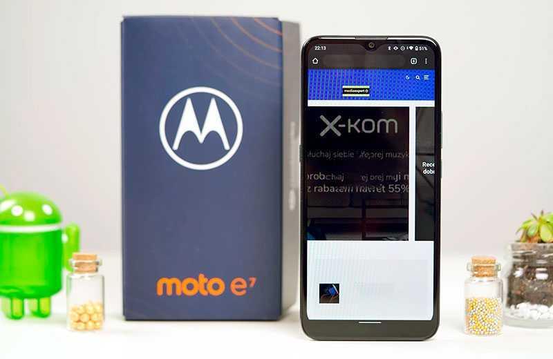 Motorola Moto E7 экран