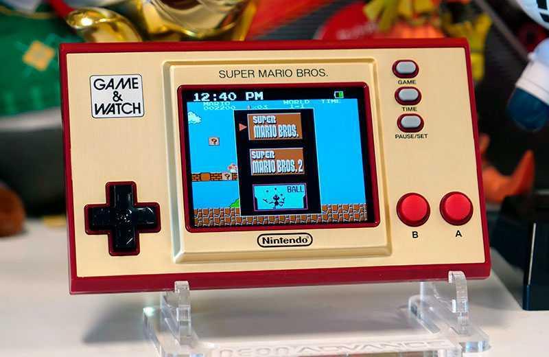 Nintendo Game & Watch: Super Mario Bros меню