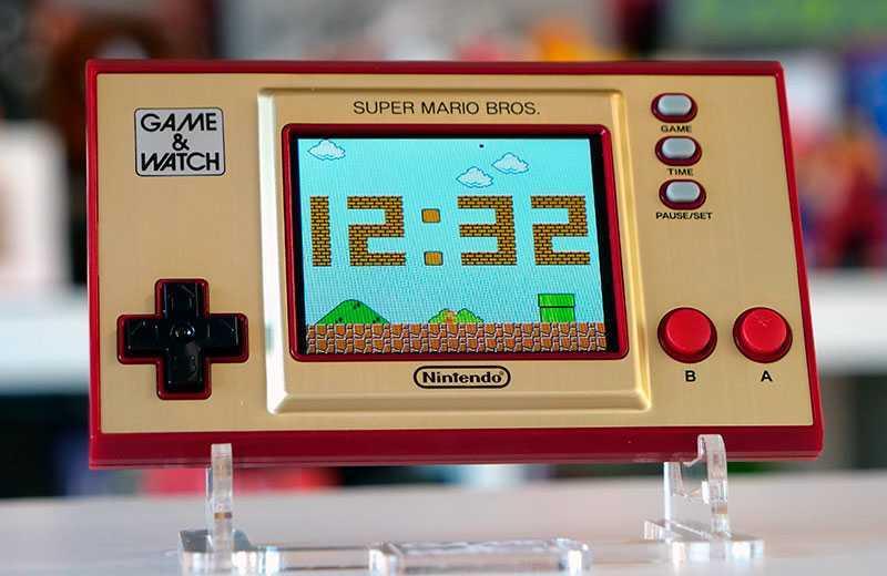 Nintendo Game & Watch: Super Mario Bros часы
